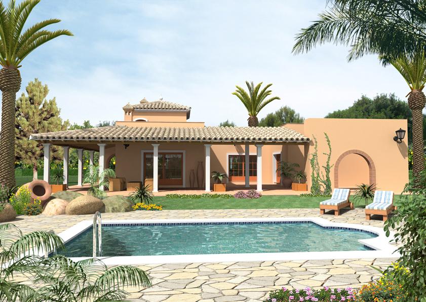 Sundalus villas nieuwbouw model luana spaanse woning for Overdekt terras model