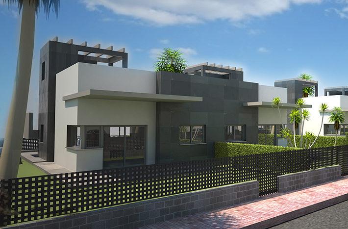 Villas la hoya model luna 39 moderne villa met 3 slaap en for Model villa moderne